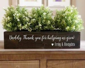 Personalized Rustic Planter Box Father's Day Gift
