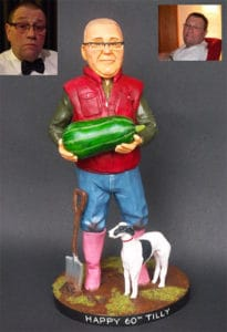 Custom Gardener Figure Unusual Gifts for Gardeners