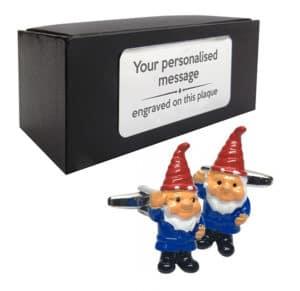 Garden Gnome Cufflinks - Valentine's Day Gardening Gift Idea
