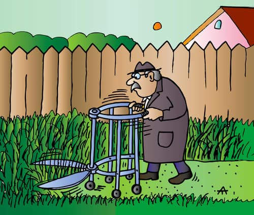 Garden Walker Mower Cartoon