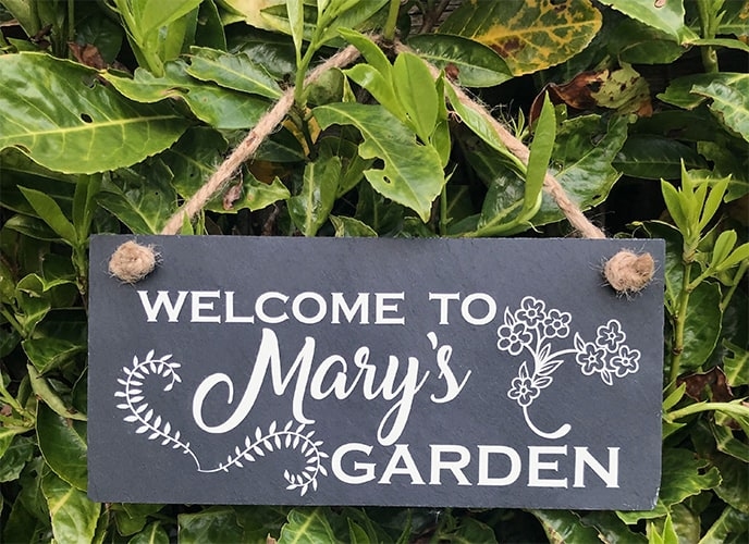 Personalized Garden Sign to Reduce Theft