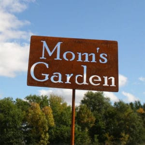 Mom's Garden Rustic Sign Gift Idea