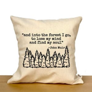 Forest Quote Pillow