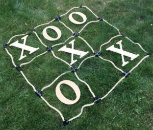 Personalized Lawn Tic Tac Toe Game